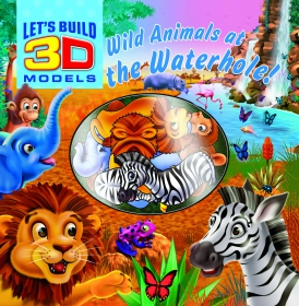 Let's build 3D models: Wild animals at the waterhole